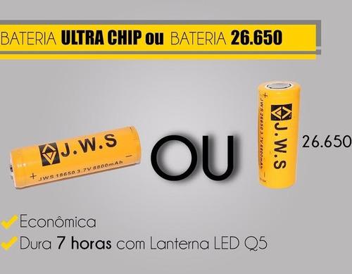 lanterna tatica e-2 5000w 14000 lumens + 1 bateria 26650