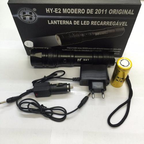 lanterna tática e2 recarregável 5000w/14000lumens