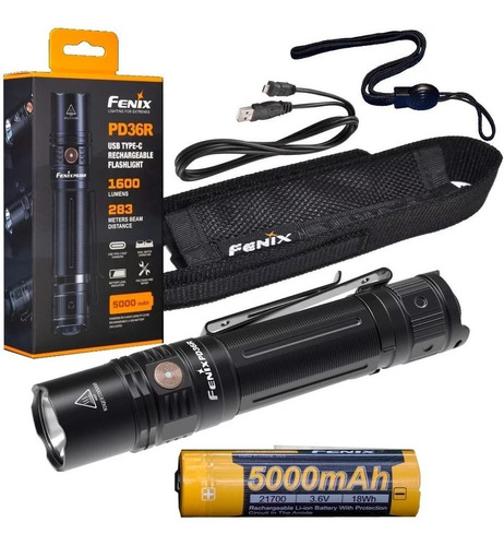 lanterna tática fenix pd36r 1600 lúmens lançamento 2019
