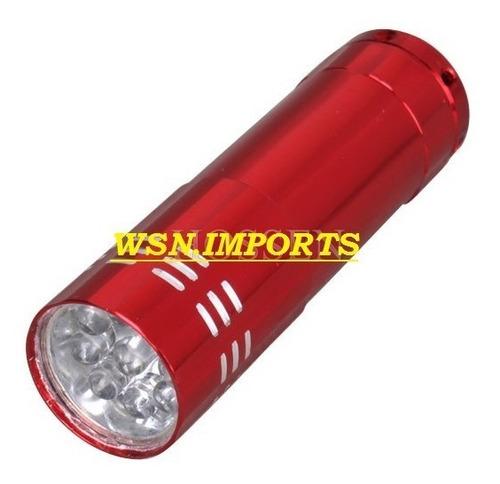 lanterna tática forte com 9 led's + pilhas - pronta entrega