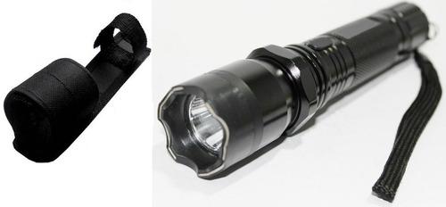 lanterna tática led choque recarregável + forte + coldre