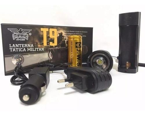 lanterna tatica led t9 melhor que x900 recarregável