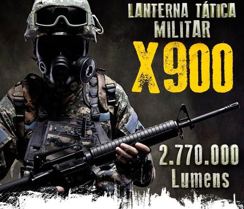 lanterna tática militar x900 chip xml t6 l2 super white