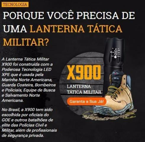 lanterna tática militar x900 forte recarregável