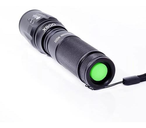 lanterna tática militar x900 recarregável com zoom origina