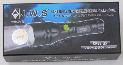 lanterna tática para mergulho, pesca , camping, prova dágua
