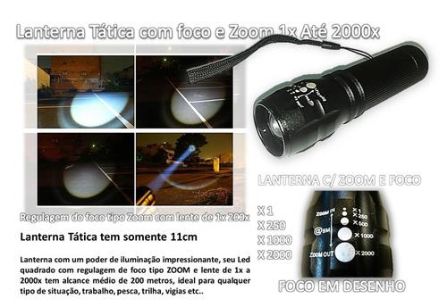lanterna tática (police) c/ zoom