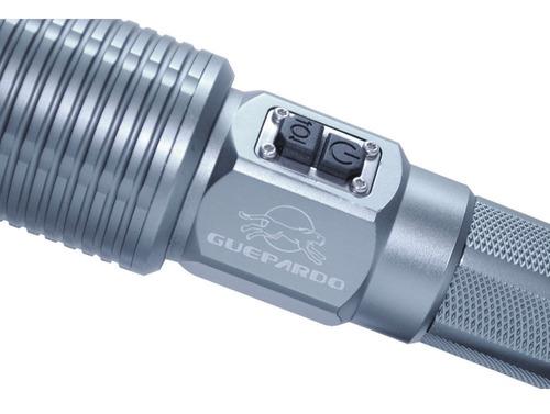 lanterna tática recarregável tocha high tec 350 guepardo
