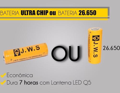 lanterna tatica rick e-2  5000w 14000 lumens + 1 bateria ext