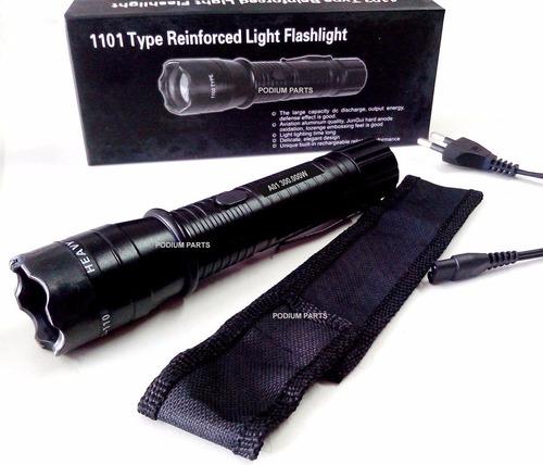 lanterna tática + taser choque ultra potente police 900.000w