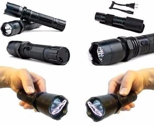 lanterna tatica + taser choque ultrapotente 128.000w