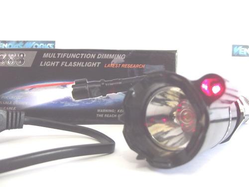 lanterna tática+ taser choque ultrapotente police 990.000 kv