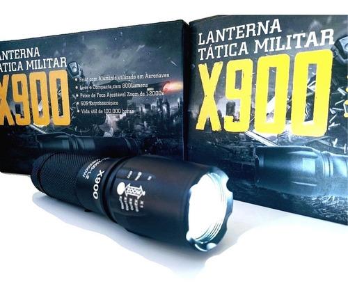 lanterna tática x900 original foco zoom mais forte potente