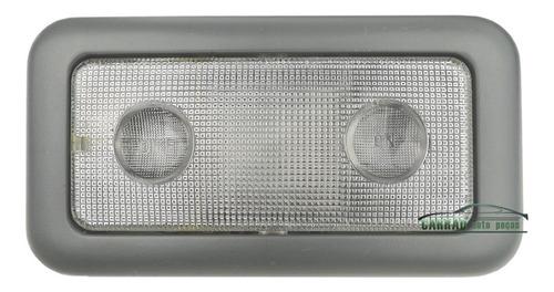 lanterna teto central fiat uno vivace cinza + lampada