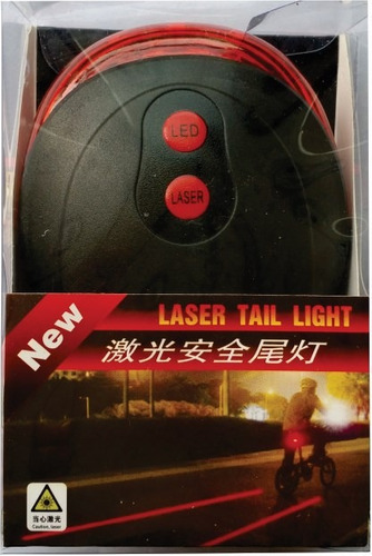 lanterna traseira bike ciclovia led laser, bicicleta