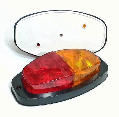 lanterna traseira canoinha + luz de placa carretinha reboque