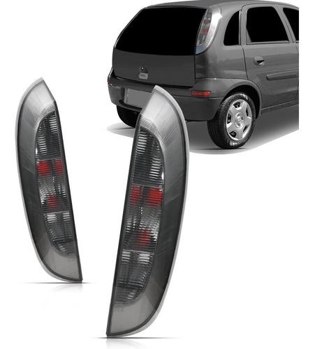 lanterna traseira corsa hatch maxx joy 2003 a 2012 fume