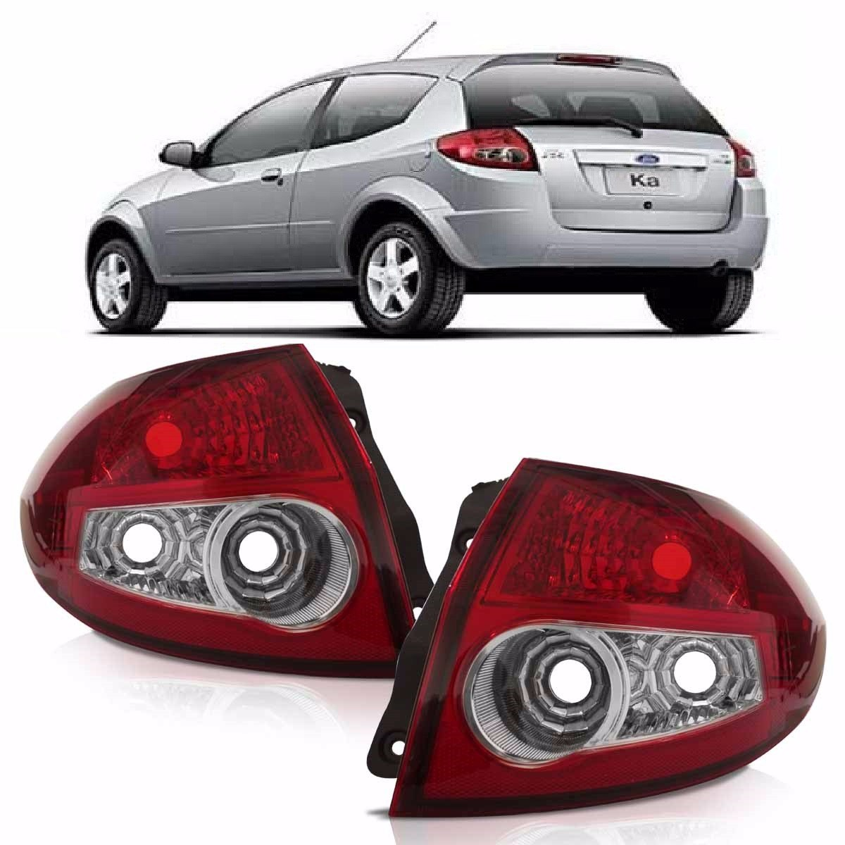 Lanterna Traseira Ford Ka 2008 2009 2010 2011 2012 Bicolor R