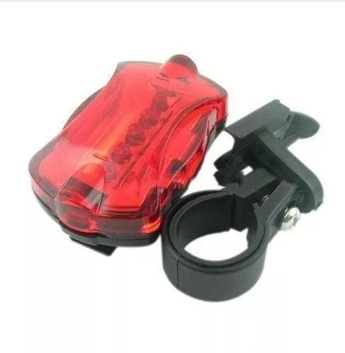 lanterna traseira p/ bicicleta bike 5 leds vermelhos