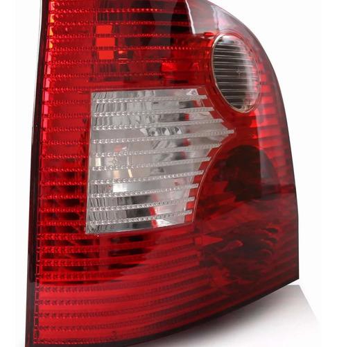 lanterna traseira polo hatch 2003 á 2006 bicolor