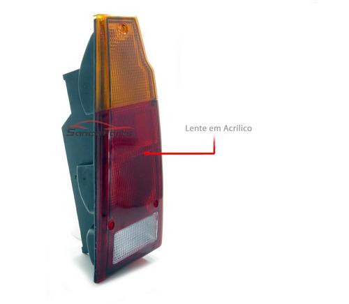 lanterna traseira saveiro 88 89 90 91 92 93 94 95 tricolor
