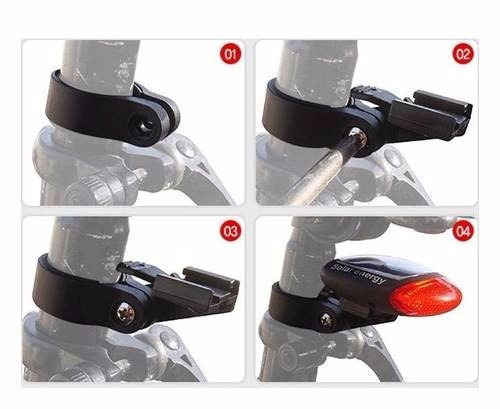 lanterna traseira solar pisca bicicleta sem uso de bateria