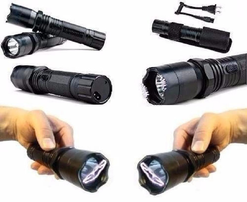 lanterna ultra potente + aparelho de choque defesa pessoal