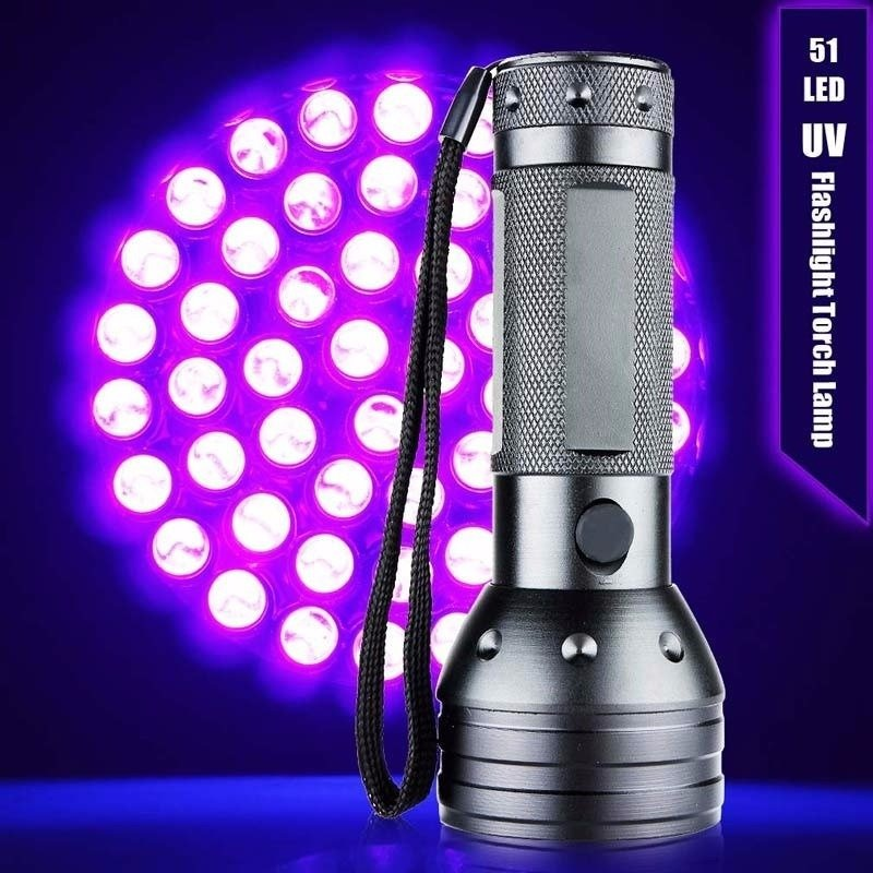 Lanterna Uv 51 Led Luz Negra Ultravioleta Video Escorpiao