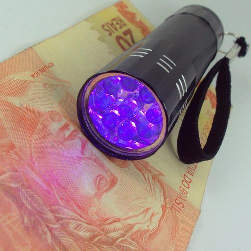 lanterna uv * identifica falsificações (dinheiro / cheque)