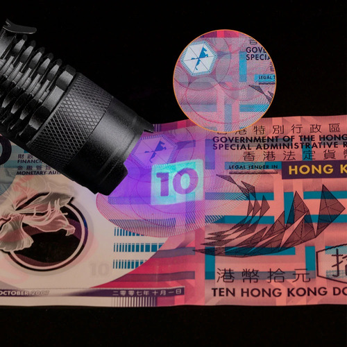 lanterna uv ultravioleta fosforescência luz negra promoção