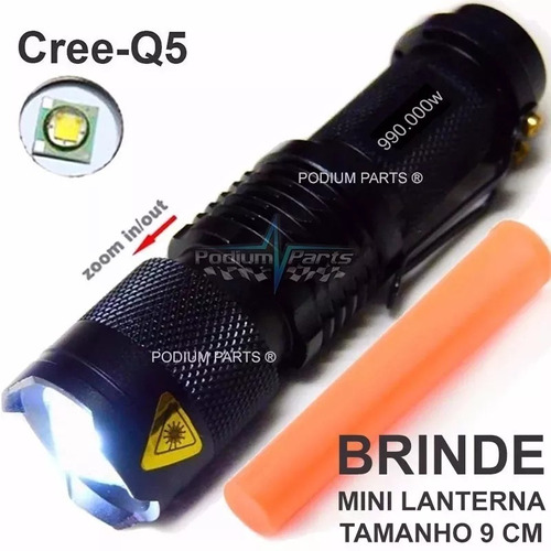 lanterna x900 led original + mini lanterna + 2 baterias