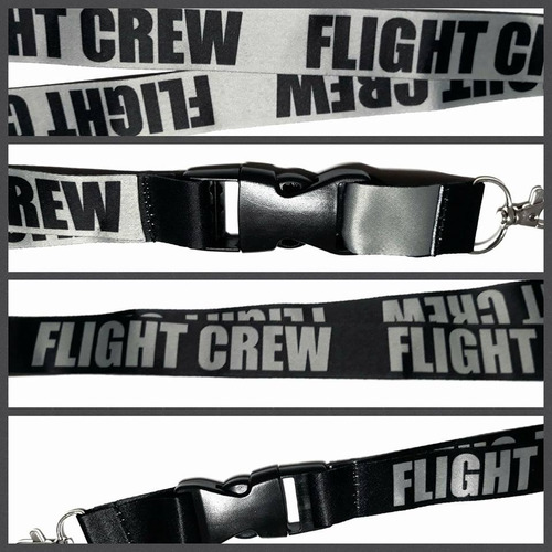 lanyard flight crew & porta id piel - remove before flight ®