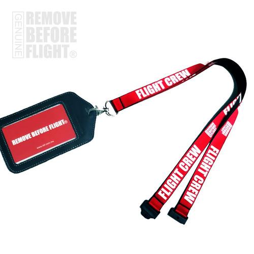 lanyard flight crew y porta id de piel  remove before flight