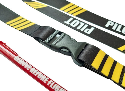 lanyard pilot 4 barras doble vista remove before flight ®