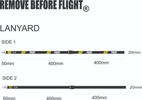 lanyard pilot 4 bars remove before flight ®