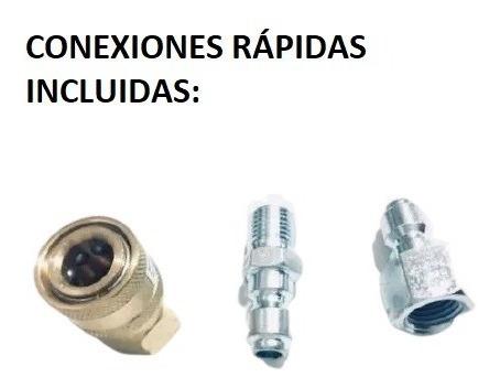 lanza espumador con válvula integrada y conexiones rápidas