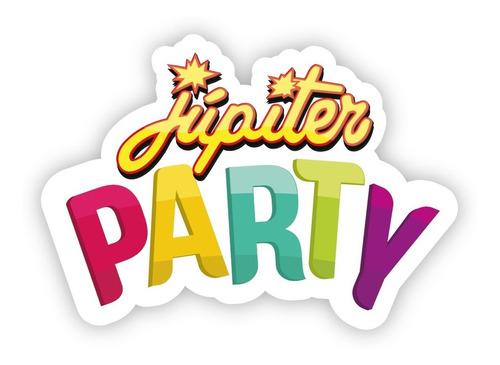 lanza papeles círculos multicolores tissue - jupiter party