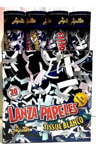 lanza papeles tissue blanco - jupiter party