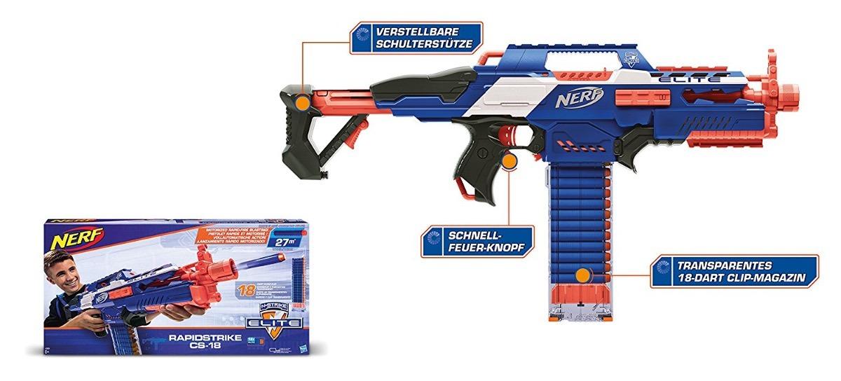 lanzador dardos nerf rapidstrike cs-18 juguete + envio. Cargando zoom.