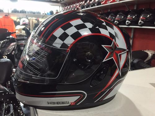 lanzamiento casco vcan integral c/visor. rh motos s.fernando