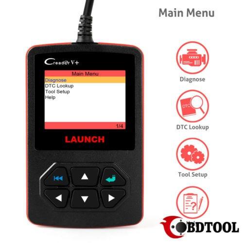 lanzamiento x431 creader v + obd2 fallo escáner código de...