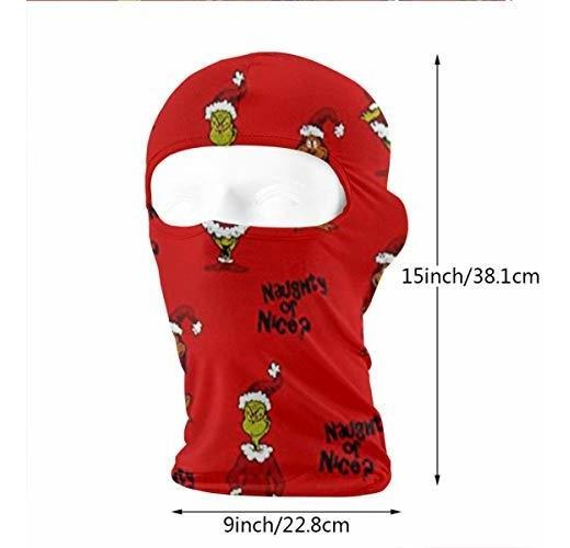 Wind-Resistant Face Mask LaoJi Xmas Santa Claus Winter Ski Mask Balaclava Hood