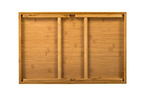 lapgear media bed tray natural bamboo se adapta a 129 tablet