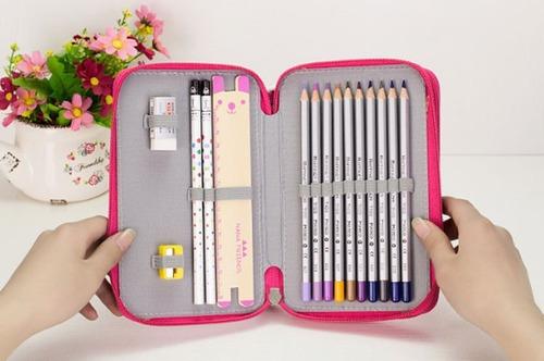 lapicera 75 agujeros organizador lápices colores full
