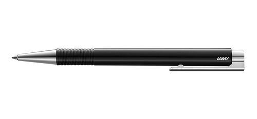 lapicera boligrafo logo m+ negra trazo medio 204 m16bk - lam