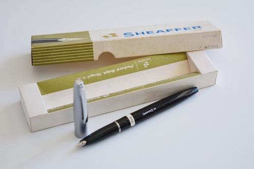 lapicera estilográfica sheaffer nuevo en caja vintage