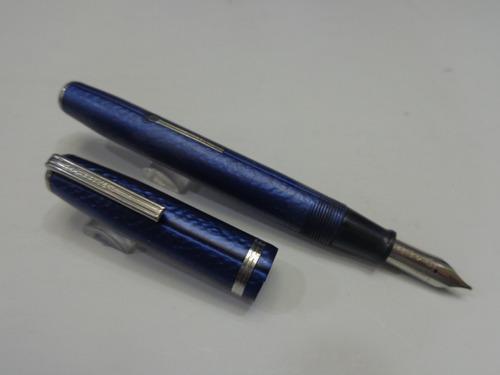 lapicera fuente usada esterbrook cuerpo azul trazo medio