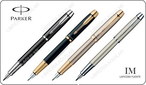 lapicera pluma fuente parker im negra oro acero apta grabado