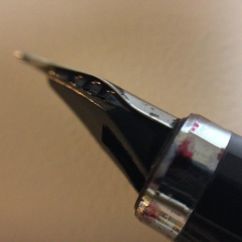 lapicera pluma fuente rotring plateada