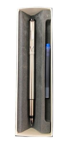 lapicera pluma parker vector metal con repuesto